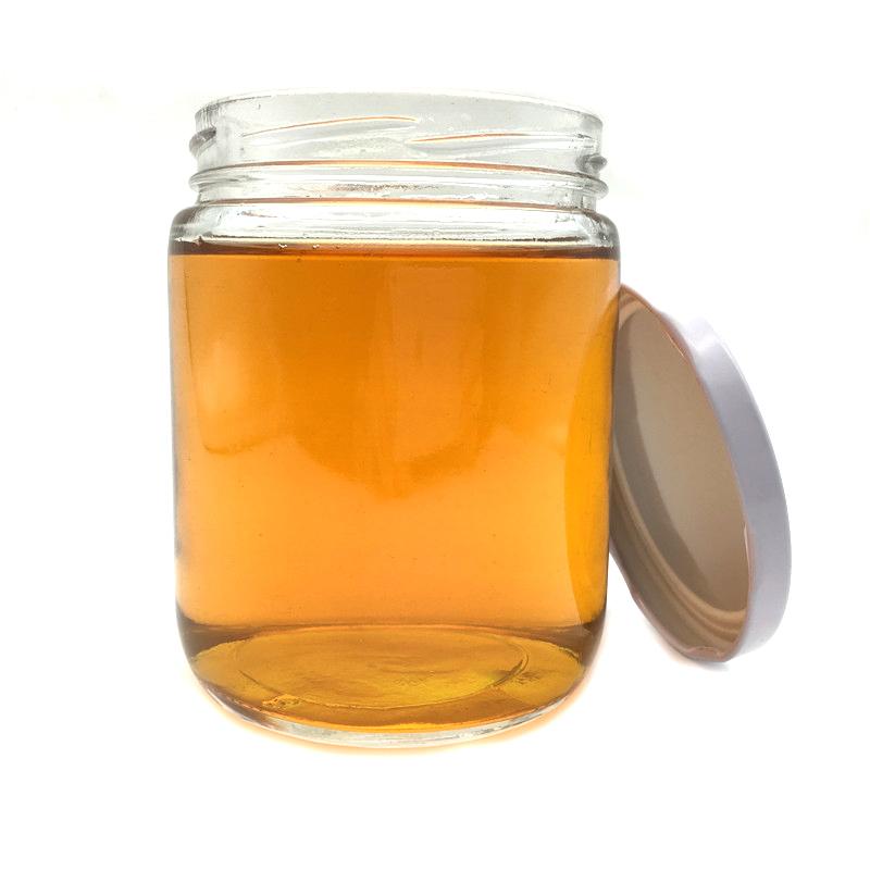 Barato ronda de almacenamiento de alimentos recipiente hermético frasco de vidrio con tapa