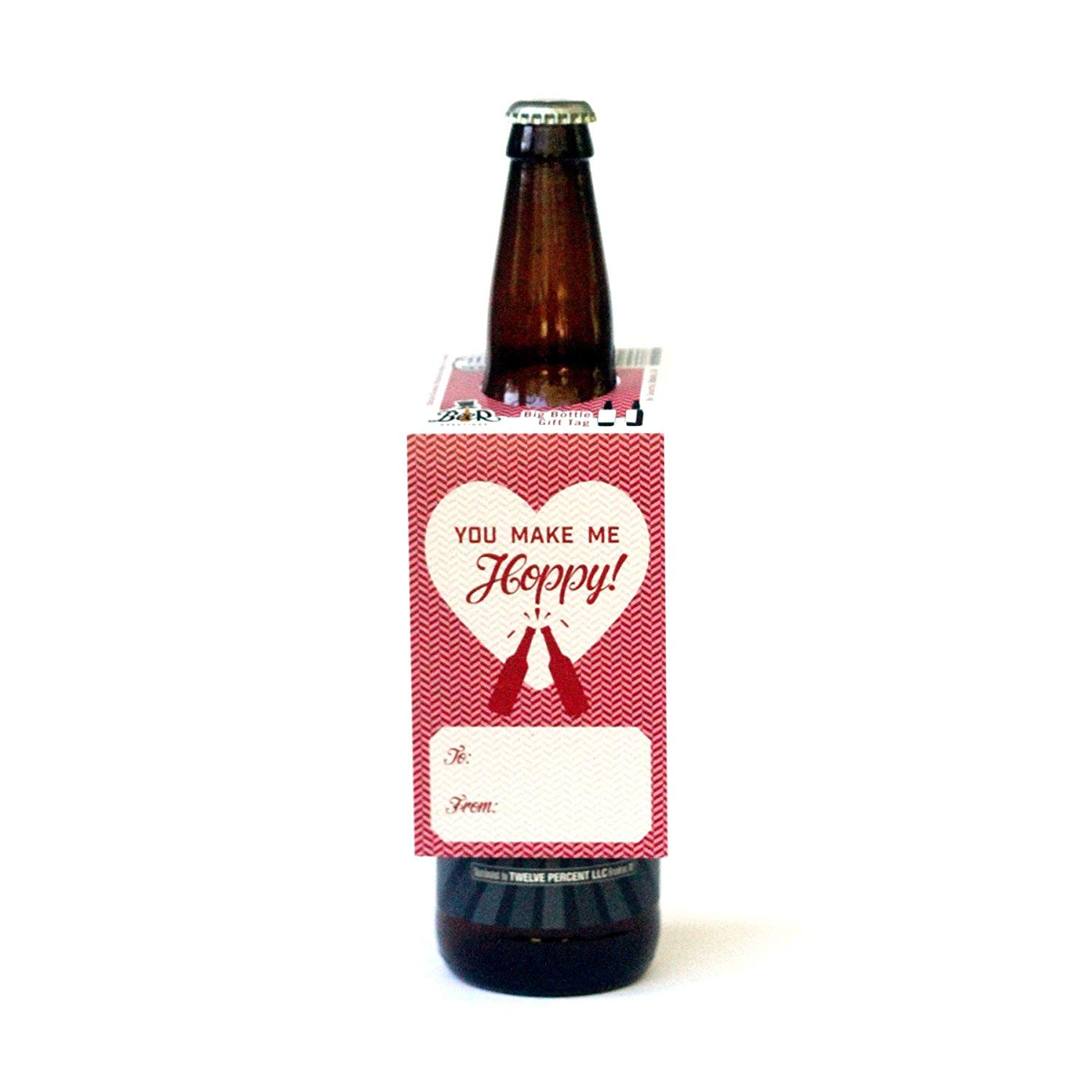 2f26c493b Get Quotations · Beer Valentines Day Gifts for Him or Her - Big Bottle or  Growler Gift Tag (
