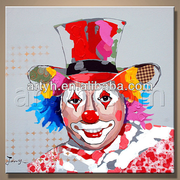 Hot sale colorful visual painting of clown new design