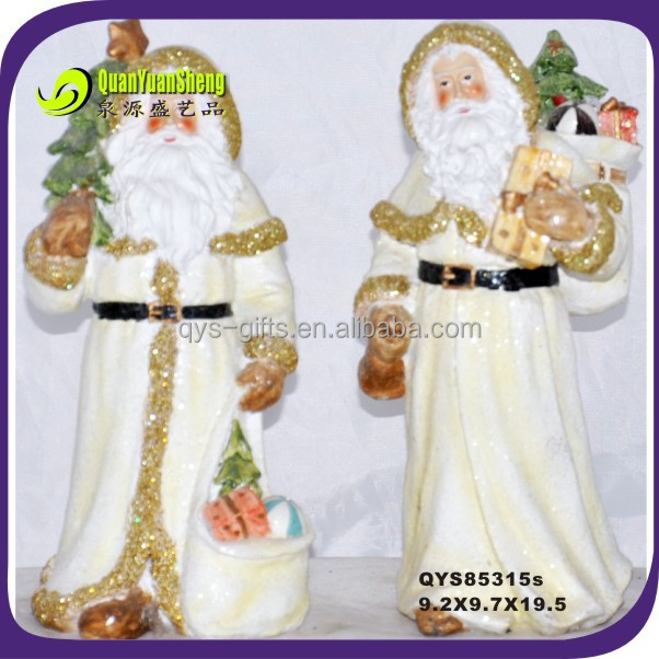 christmas traditional santa claus&polyresin factory in china