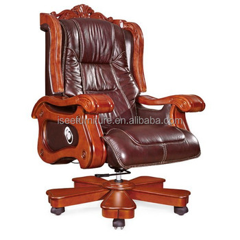 Luxury Antique Wooden Office Chair Swivel Parts Ih020
