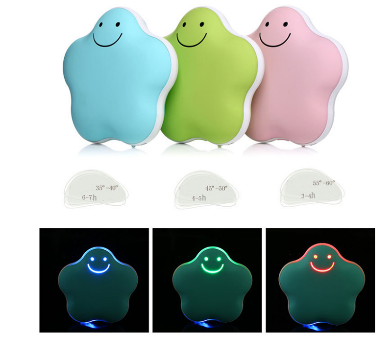 Star shape rechargeable Hand Warmer foot warmers 5000 mAh Power Bank