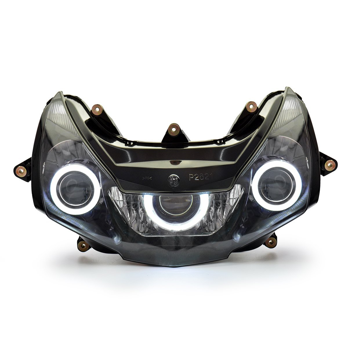 KT Headlight Assembly for Honda CBR954RR 2002-2003 White Angel Eye