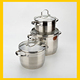 Hot selling silicon stainless steel 9 layers capsule bottom pyrex cookware