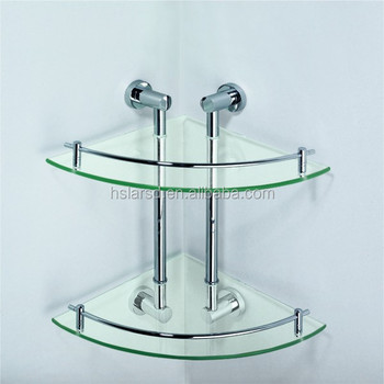 Bathroom Temper Glass Shelf/glass Corner Shelf/glass Holder - Buy ...