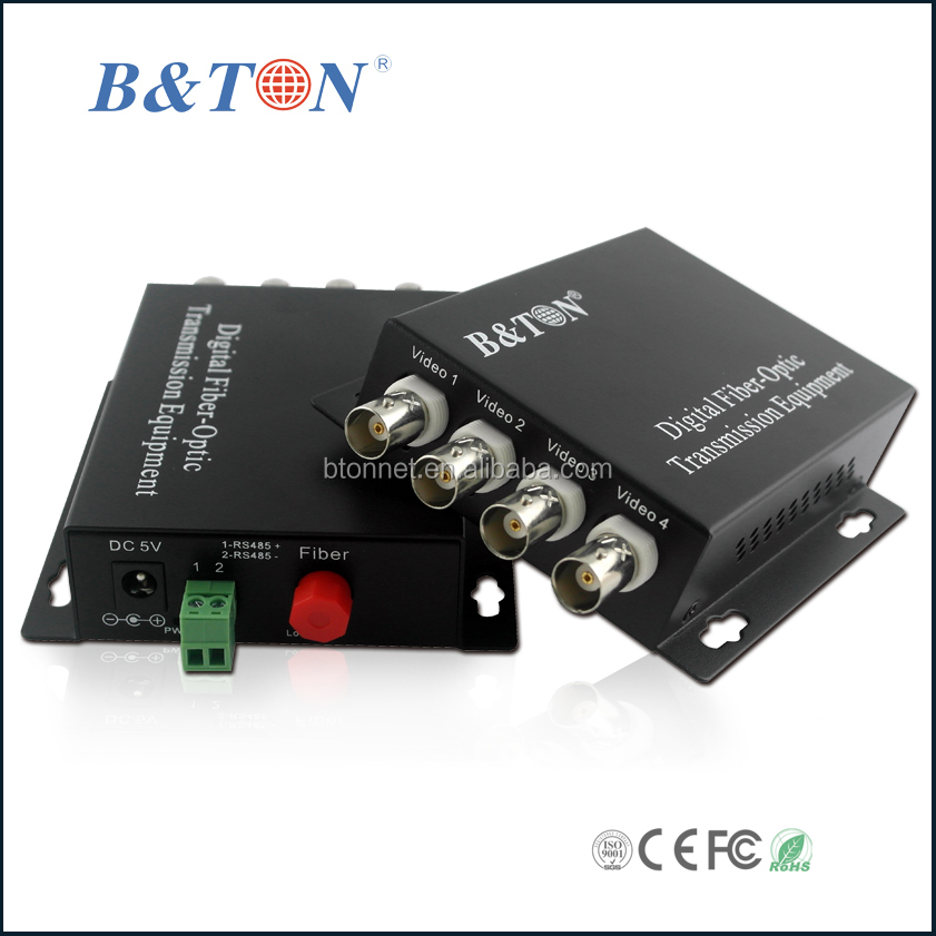 4 Channel Analog Video Audio To Fiber Audio Fiber Optical ...