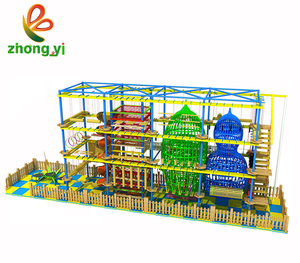 Indoor Climbing Rope Adventure Course Playground