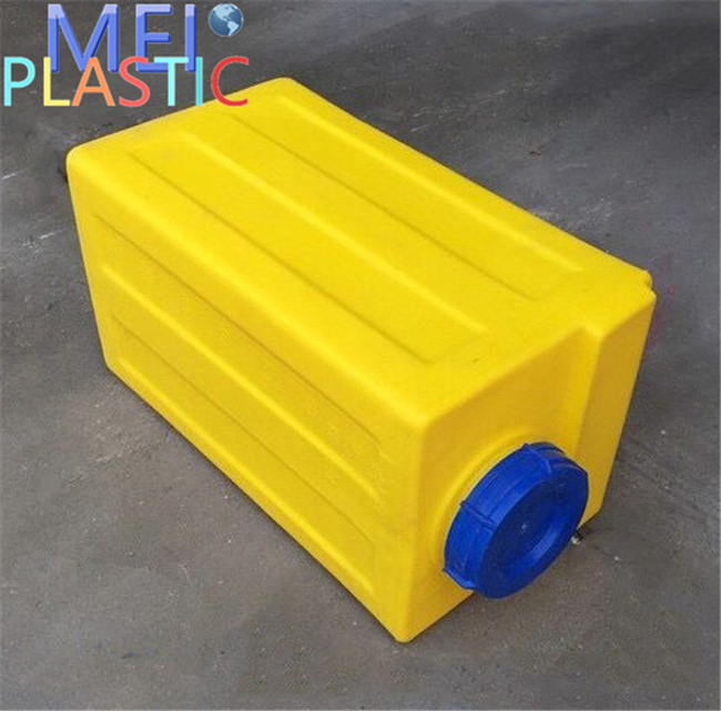 Square poly plastic pe 120 litre mixing tank with factory sale price