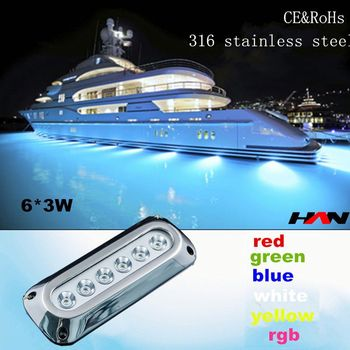 Rectangular 18w 316 Stainless Steel Led Underwater Boat Light Led Drain Plug Light Buy Led Underwater Boat Light Led Drain Plug Light High Quality