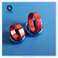 Hot selling opening bird rings in china aluminium ring Custom Aluminum Bird bans for Lovebird chicken rings for Sale