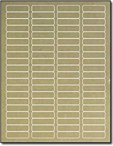 "Gold Foil Return Address 1 3/4"" x 1/2"" for Laser Printers - 800 Labels"