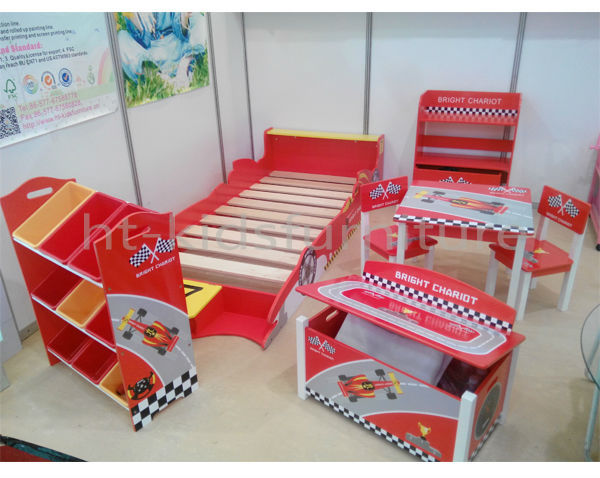60x60xh48cm mdf e1 and pinewood easy assembly racing car kids study table