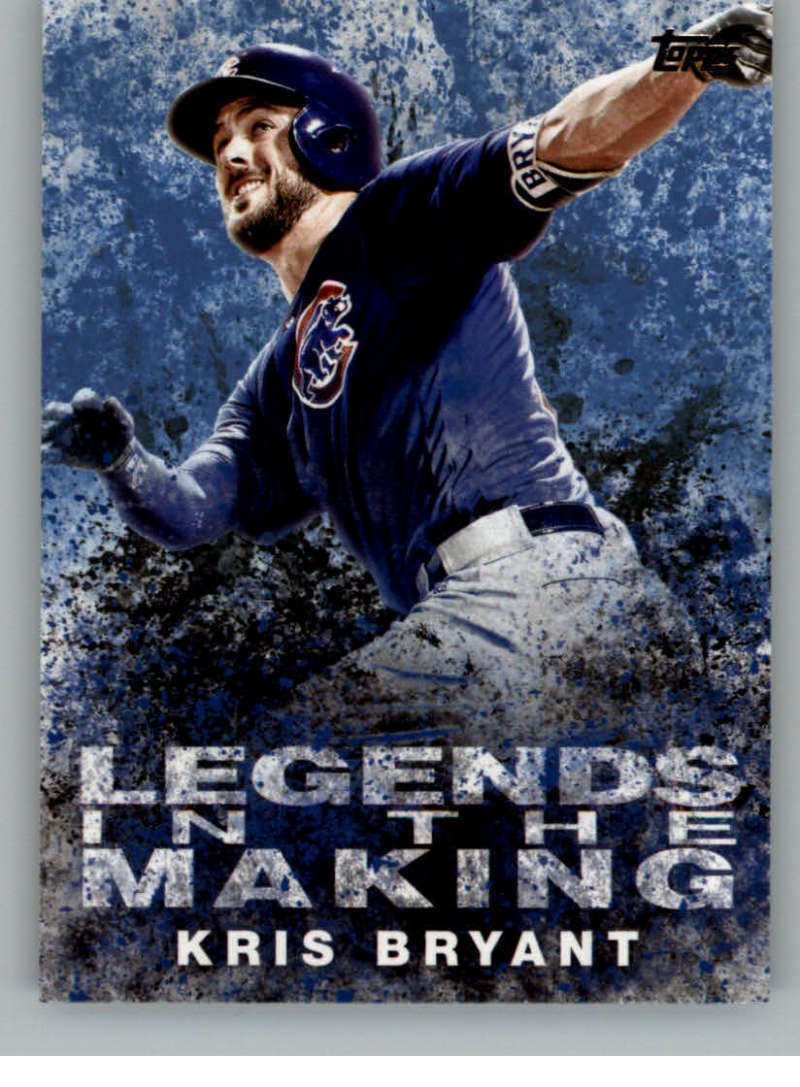 3f6ac04cc19 Get Quotations · 2018 Topps Legends in the Making Blue  LTM-KB Kris Bryant Chicago  Cubs