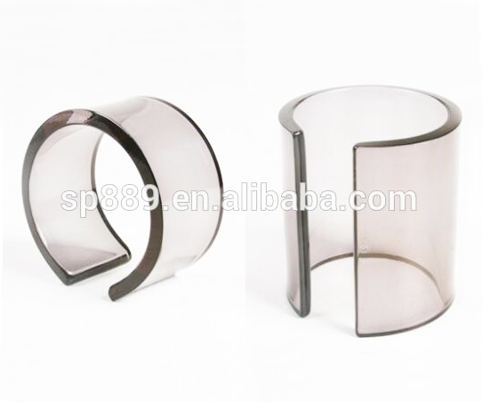 Factory gray acrylic cuffs clear lucite bangles plastic resin bracelet