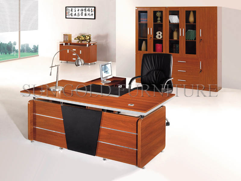 modern wooden office executive desk office table design