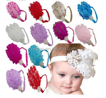 Baby curl feather hair band ebay sell dhgate hot selling crystal headband 452e4c3dbc1