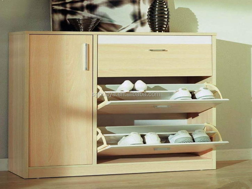 Modern Wood Shoe Cabinet For Living Room Furniture Melamine Rack