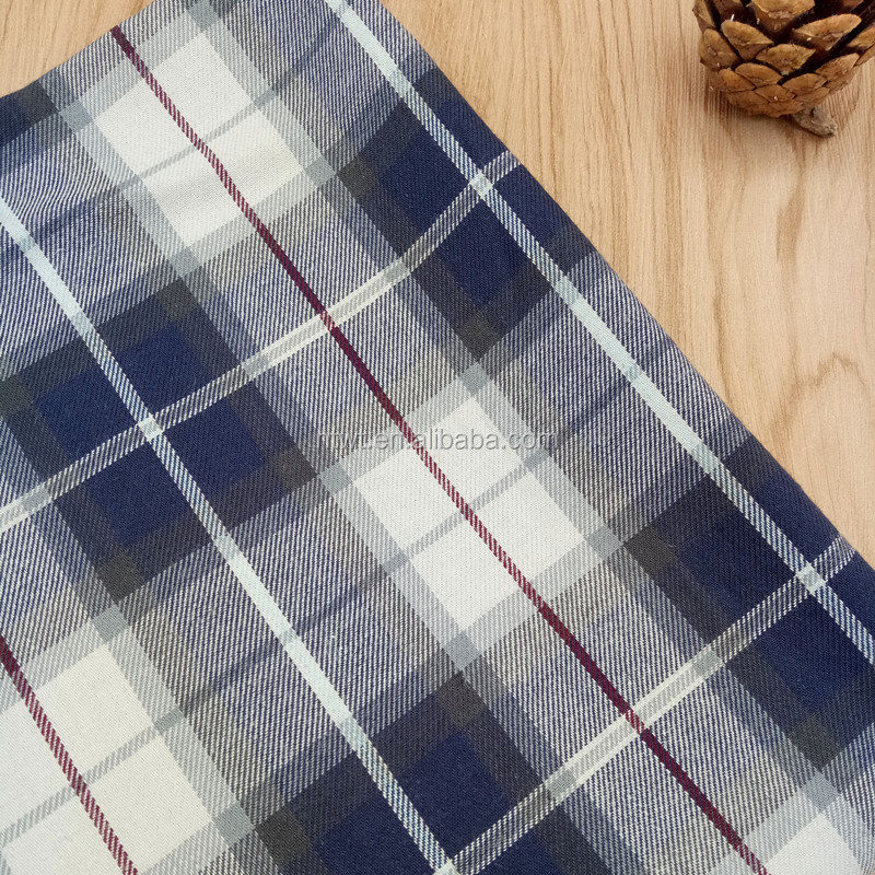 Factory!!!100% cotton yarn dyed twill plaid fabric for school uniforms