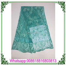 Graceful new series beads lace bridal /african dress beads lace embroidery/beads lace fabric