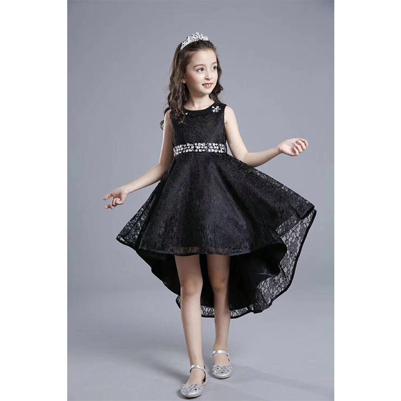 Hot Arabic Dress For Kids Red One Piece Front Short Back Long Kids