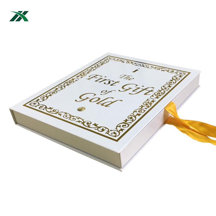 eco-friendly custom pearl scarfs packaging paper box