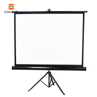 Tripod Standing Projector Screen fast Floor Screen Outdoor / Indoor Portable Mobile Matt White Screen