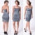 Custom Ladies Adjustable Straps Vintage Plus Size Woman and Girls Short Charcoal Grey Stretch Long Sexy Silk Satin Slip Dress