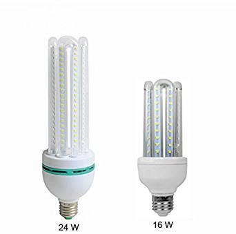 Anjeet 24W LED Corn Light E27 Led Light Bulbs 6000K- 6500K Cool White Home Lighiting Fixture 160pcs Leds 2835SMD,AC 85V~265V (24)