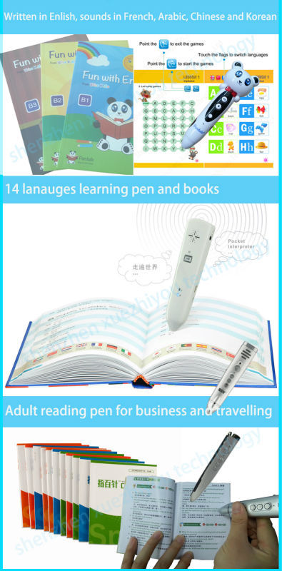 4GB memory children Audio Read Pen and Audio touch book for Kids gifts
