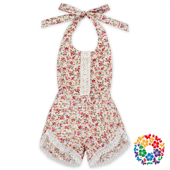 6ff64e002a97 Flower Designs Knit Baby Rompers Little Girls Summer Romper Jumpsuit  Boutique Children Romper for 6 Years