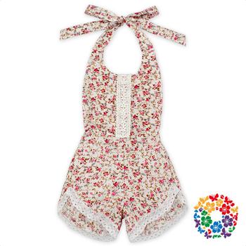 7edfd43b0c8 Flower Designs Knit Baby Rompers Little Girls Summer Romper Jumpsuit  Boutique Children Romper for 6 Years
