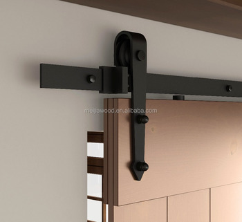 6 Ft Clical Standard Flat Track Interior Sliding Barn Wood Door Roller Hardware