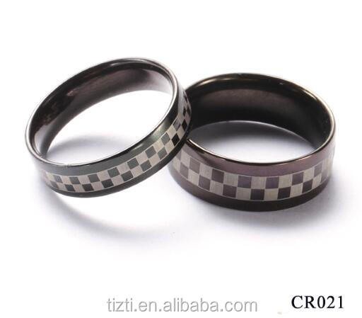 Promotion Sales!!! 8mm Men Tungsten Carbide Ring Wedding Engagement Band Polished Edge Brushed Black White Grid Steel ring CR021