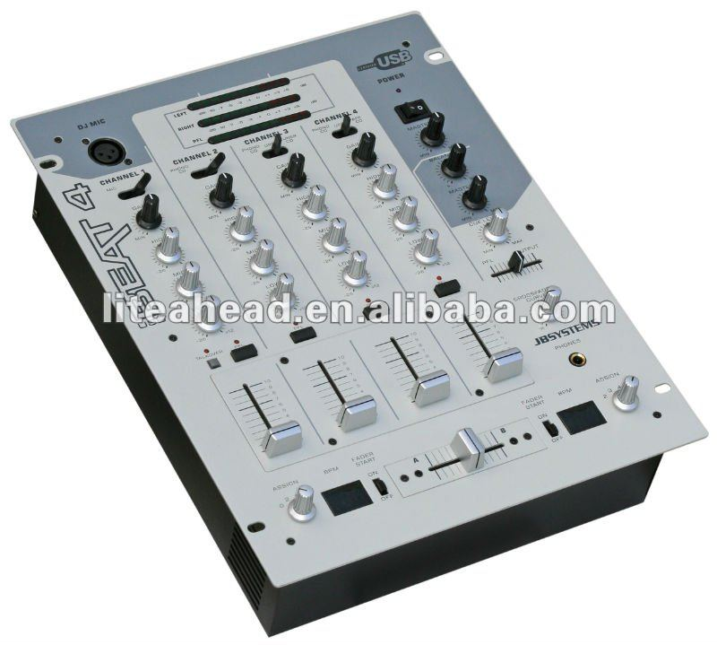 Professional DJ audio mixer Beat4 USB