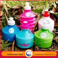 New Products 2016 Innovative Product Collapsible Plastic Sports Drinking Water Bottle