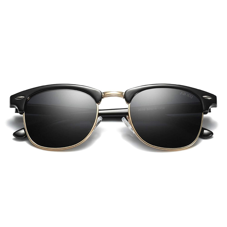 a1ed69473775 Get Quotations · AIDIXI Men women Retro Brand Sun Glasses Classic Half Frame  Polarized Semi-Rimless Rimmed Sunglasses