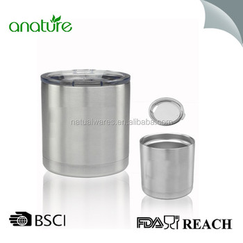 6e40d9c1ed3 10 oz Stainless Steel Lowball Travel Tumbler Double Wall Vacuum Insulated  with Lid