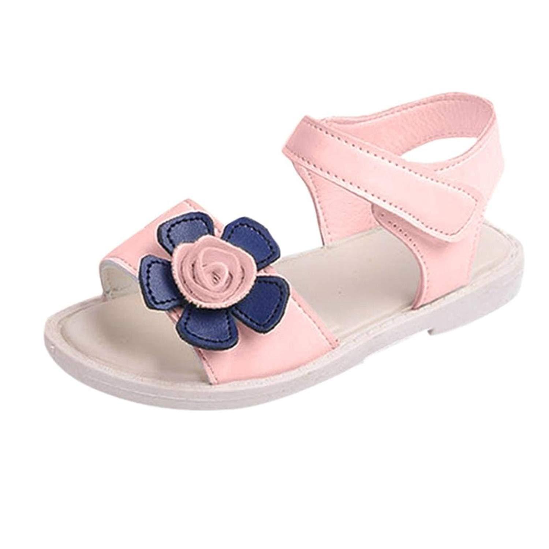 d6c80e0485f30 Get Quotations · WOCACHI Baby Girls Shoes Summer Children Kid Girls Flower Sandals  Beach Princess Shoes