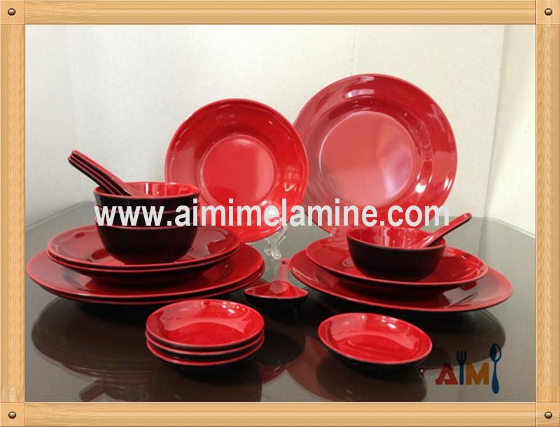 Plastic Dinnerware Set Dishwasher Safe Melamine Dinner
