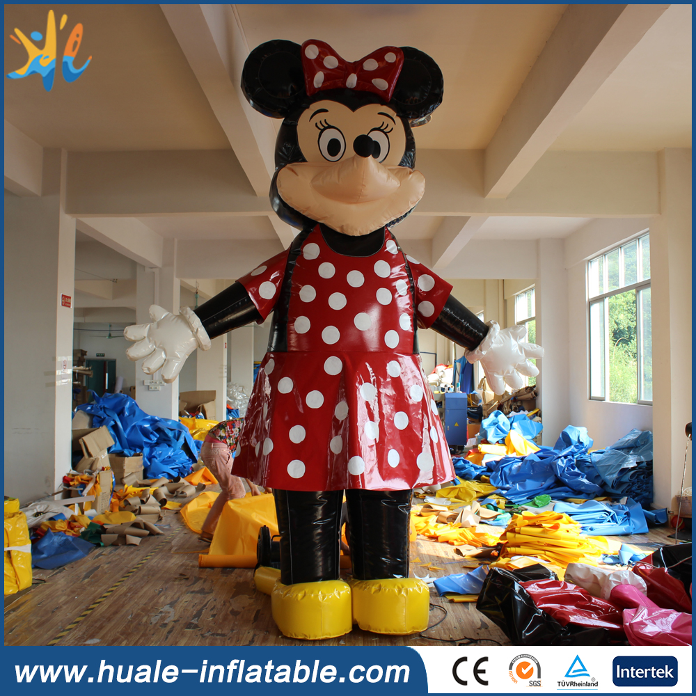 Customized design inflatable mickey mouse cartoon for promotion