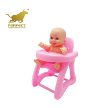 kids lovely expression toys 5 inch vinyl reborn baby doll with chair