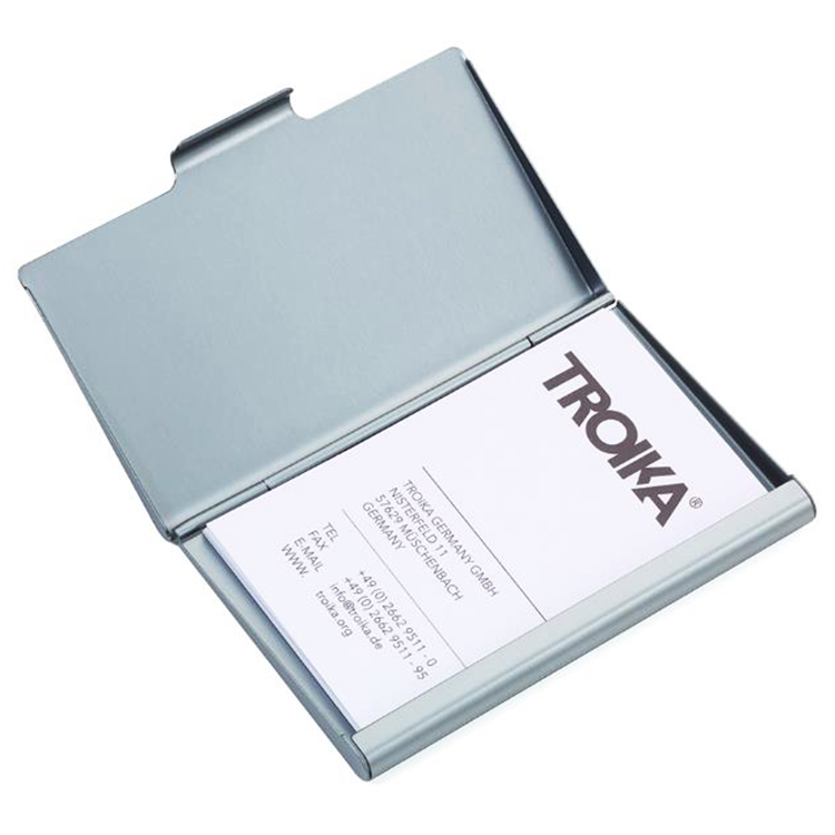 2018 Promotion gift aluminium fabrication Business Card Case