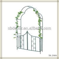 New design black color metal garden arbor