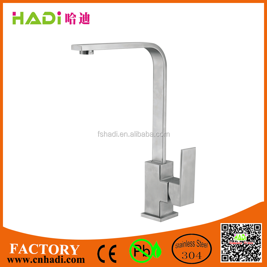 top quality brushed stainless steel 304 kitchen sink faucet HDF8114