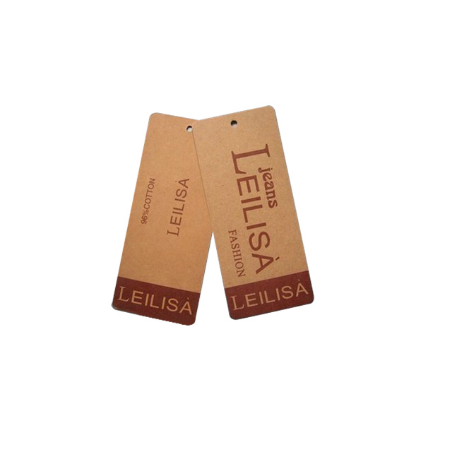 silver foil logo garment tags and labels hang tag for clothing,paper hang tag with string rope