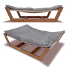 New design luxury bamboo pet hammock bed elevated fusion dog bed