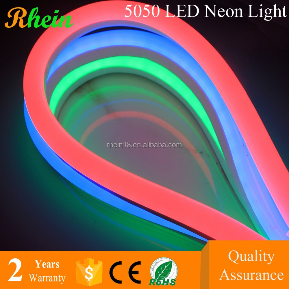 Factory Best Price Outdoor 12 24 110 220 Volt Red Blue Green Yellow RGB LED Flexible Neon Strip Light