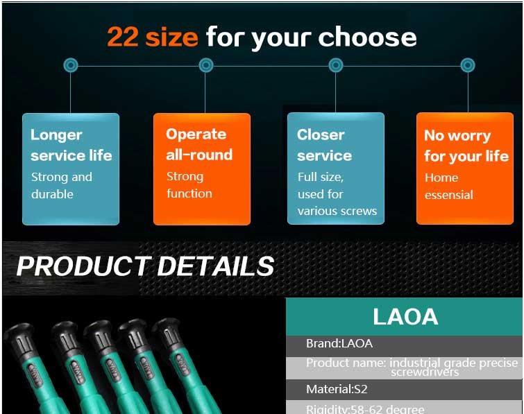 LAOA Assembly Tools Mobile Phone Repair Tool precision screwdriver