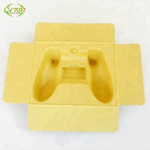 Paper packaging recycled molded fiber tray pulp insert