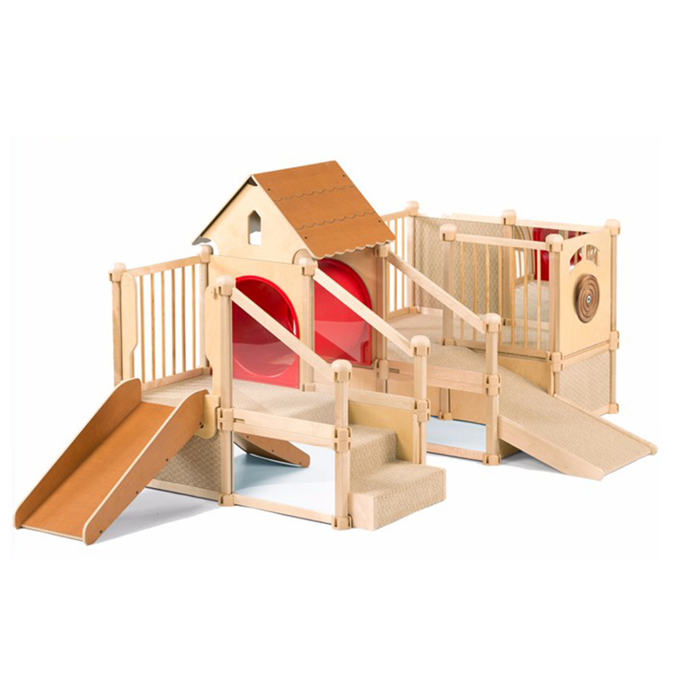 Wholesale Daycare Children Furniture Kindergarten Kids Wooden Playground Equipment Indoor Playground